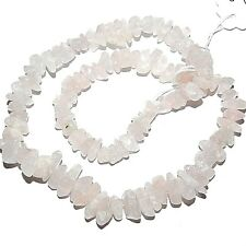 NG2442f Natural Rose Quartz Graduated 6mm - 14mm Nugget Chip Gemstone Beads 16""