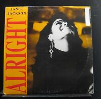 "Janet Jackson - Alright 12"" VG+ SP-12351 A&M 1989 USA Vinyl Record"