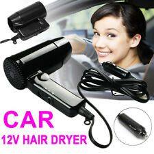 12V Portable Hairdryer Hair Dryer Dry Glass Defroster Car Caravan Camping Travel