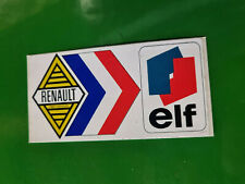 N.O.S autocollant decalque RENAULT ELF 5 8 12 alpine gordini turbo AUTHENTIQUE