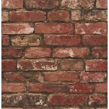 Rustic Brick Effect Wallpaper 10m Red Fine Decor FD31285