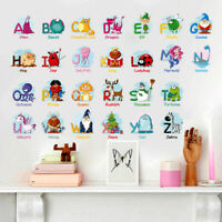A-Z Alphabet Letters Animal Kids Wall Sticker Decal Nursery Bedroom Classroom