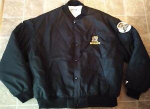 Vintage SWINGSTER Mizzou Missouri Tigers NCAA Black  Varsity Style Jacket ~XL