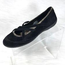Patagonia Ebony Women's Criss-Cross Ballet Flats Black Suede Size 8