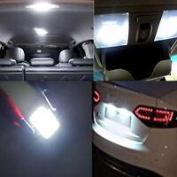 2x Car Lamp Bulbs COB 39mm White Festoon Interior Dome LED Light Car Accessories