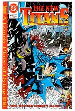signed NEW TITANS #61 in NM- a 1989 DC comic autographed by MARV WOLFMAN Batman