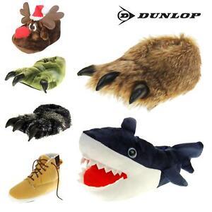 Mens DUNLOP Novelty Slippers Claw Shark Monster Size 6 7 8 9 10 11 12