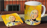 One Punch Man Anime Classic Classic Coffee MUG + Wooden Coaster Set