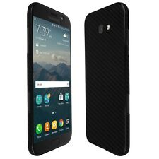 Skinomi Black Carbon Fiber Skin+Screen Protector For Samsung Galaxy A7 (2017)