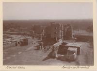 Egypte, Medinet Habu (مدينة هابو), Pavillon de Rameses III Vintage print.  Ti