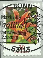 Taglilie - selbstkl./EVST-Vollstempel BONN 2.1.2020 - Mi.-Nr.:3516