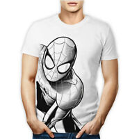 T-SHIRT MAGLIETTA TSHIRT MARVEL AVENGERS SPIDERMAN SPIDER-MAN UOMO DONNA