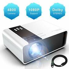 Projektor waygoal tragbar Mini Projektor mit Dolby, 4800 Lumen und Full HD
