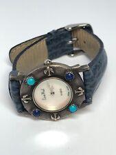 Euro West Watch Sterling Silver Case Ladies Quartz Blue