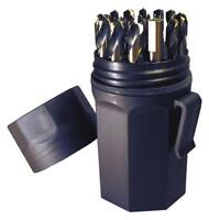 NEW Norseman CTD 46952 29pc Jobber Drill Bit Set AQF-29P 1/16-1/2 by 64ths