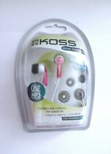 New Genuine Koss KEB20 In-Ear Earphones Pink For iPhone/iPod/MP3