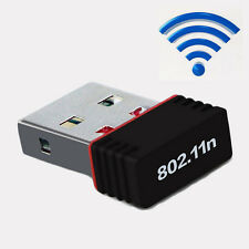 150Mbps USB Wireless WiFi Lan Network Receiver Card Adapter For PC Desktop New