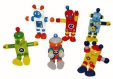 Wooden Robot Action Figures
