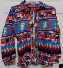 OKC Thunder Native American Patchwork Jacket Sz XL XLarge Seminole New Handmade