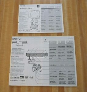 Set of 2 Sony Playstation 1 and Sony Playstation 2 Console Instruction Manual