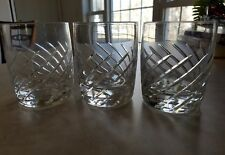 """3~Swirl Lenox Crystal Double Old Fashioned Glasses 4"""" Weighted~HTF"""