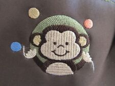BABY BOOM TOTE/ DIAPER BAG LOTS OF POCKETS WITH MONKEY DESIGN. BROWN COLOR