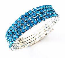 USA Bracelet Rhinestone Crystal Adjustable Bangle Blue Party Fashion Clearance