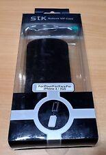STK Nubuk Leder VIP Case Iphone 3 -4 Schutzhülle Handyhülle Tasche Cover schwarz