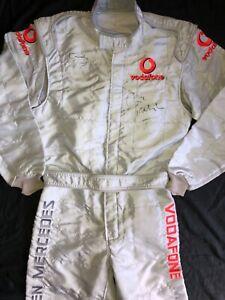 LEWIS HAMILTON SIGNED MCLAREN RACE SUIT✔️SPARCO FIA SUIT✔️GENUINE✔️WITH VIP PASS