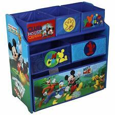 Disney Mickey Mouse Children's Toy Storage Unit Box Organiser Wooden Multi Tray
