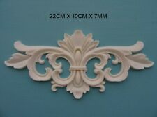 french Decorative applique scroll centre resin furniture moulding onlay nr38