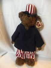 Large TY Attic Jointed Patriotic Uncle Sam Bear  ** SAMUEL **  with tags