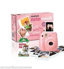 Fujifilm Instax Mini 8 Pink Instant Color Camera - 10 shots