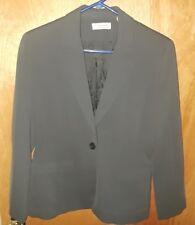 Valerie Stevens Womens 2 Piece Pant Suit & Jaket Dark Gray Size 6P