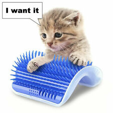 Pet Cat Self Groomer Brush Wall Corner Mount Grooming Massage Comb Toy