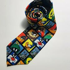 Looney Tunes Stamp Collection Bugs Bunny Marvin Marian Tazz Men's Neck Ties 58""