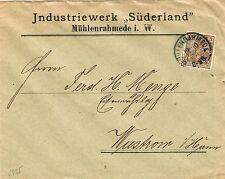 Briefmarken aus dem deutschen Reich mit Bedarfsbrief und Post, Kommunikation