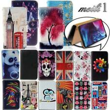 Folio Leather Stand Wallet Cover Case For Various ARCHOS SmartPhones + Strap