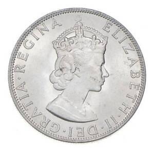 Choice BU Unc 1964 Bermuda 1 Crown Silver Coin - Mint State *769
