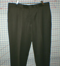 RIVIERA Mens Dress Pants, Wool/Cashmere Blend Flat Front, BROWN, 36 x 32