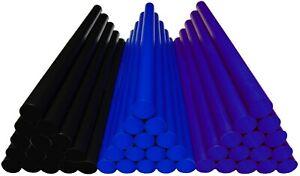 Hotmelt for remove Dents Black Blue Ultramarineblue 45 Sticks soft medium hard