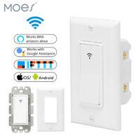 WiFi Smart Wall Light Switch Smart Life/Tuya Remote Control Works with Alexa