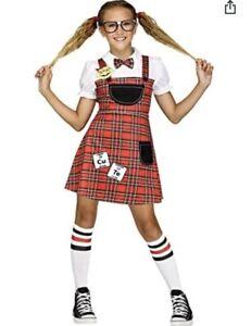 Fun World Head of The Class Nerd SCHOOLGIRL Costume GIRLS SIZE LARGE (12-14) NEW