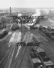 '35 STREAMLINER HIAWATHA RAILROAD TRAIN ROUNDHOUSE TURNTABLE PHOTO STEAM RR CARS