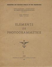 Éléments de photogrammétrie.Jean Hurault.1949.Anaglyphes.