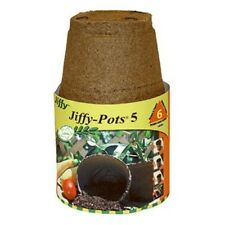 PLANTATION PRODUCTS Jiffy Potts 508 Round Peat Pot, 5-Inch, 6-Pack Peat Moss