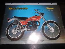 Prospekt Sales Brochure Bultaco Alpina 350 / 250 Technische Daten Motorrad Bike