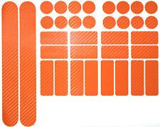 Carbon Orange Fahrrad Aufkleber Rahmen Schutz Folie MTB BMX Lackschutzfolie