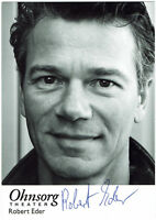 Robert Eder - Ohnsorg Theater - original signierte Autogrammkarte