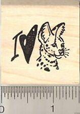 I love Servals Rubber Stamp Wood Mounted C8207 serval